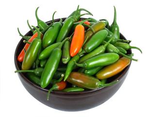 hot pepper in bowl