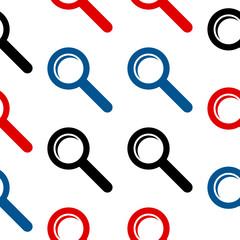 Search symbol seamless pattern
