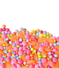 Sweet round multicolor candies