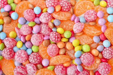 Sweet multicolor candies