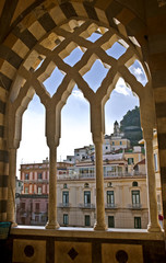 View of of the town of Amalfi from St. Andrew Cathedral.