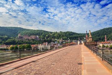 Staustufe bridge at Heidelberg city, Germany