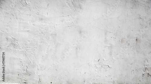 Leinwanddruck Bild White concrete wall background texture with plaster
