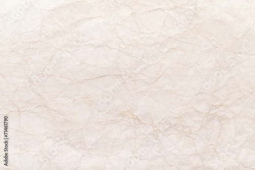 Old yellow crumpled paper sheet background texture - 71461790