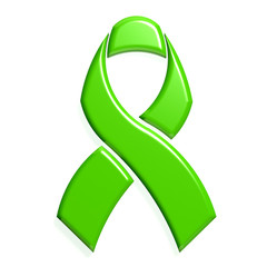 Green ribbon awareness logo