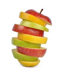 Apple mix isolated on white background