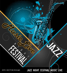 eps Vector image: JAZZ NIGHT FESTIVAL MUSIC LIVE