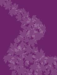 Leaves on violet
