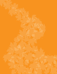 Orange Leaf background