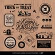 Vintage Halloween labels and frames set
