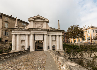 gate to Citta Alta in Bergamo
