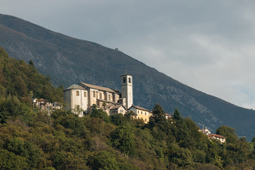 view of church in Sant' Agata in Piedmont, Italy