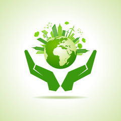 Save nature concept stock vector