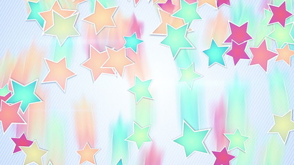 multicolor stars falling loopable background