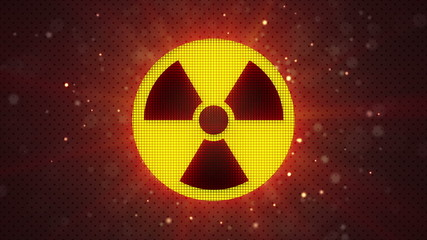 radioactive symbol loopable industry background