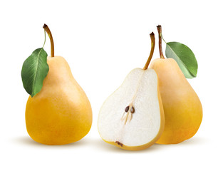 Pears bartlett isolated on white background