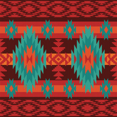 Geometric pattern in ethnic style