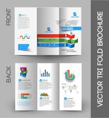 Business Infographic Tri-fold Brochure Design Element