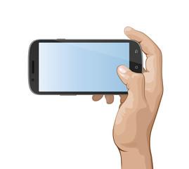 Hand holding smart phone IV