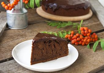 Шоколадный кекс с темным пивом