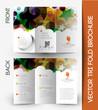 Zdjęcia na płótnie, fototapety, obrazy : Tri-fold Brochure Design Element, Vector Illustartion.