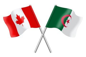 Flags: Canada and Algeria