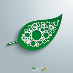 Big Green Leave Gears Infographic