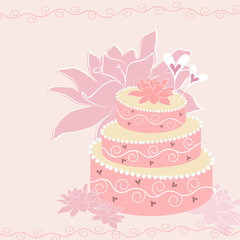 Wedding cake - vector background