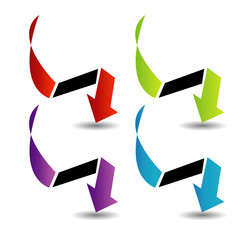 Set of colorful arrows- corporate logo