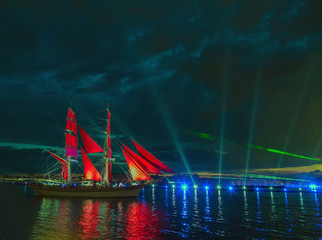 Scarlet sail