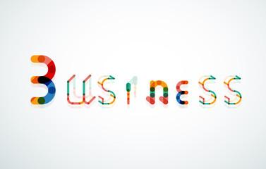 Business word keyword font