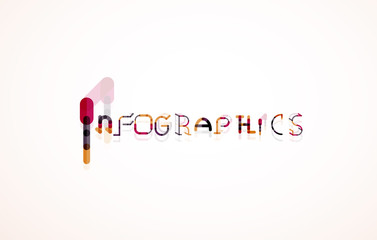 Infographics word font concept
