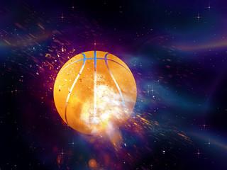 Basketball Ball Flies