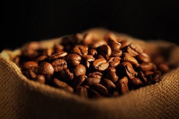 sacchetto con chicchi di caffè