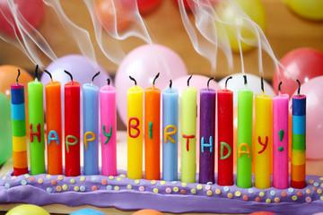 Geburtstagskerzen auspusten