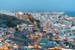 Leinwanddruck Bild - Alcazaba de Almería
