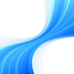 Blue swoosh lines border divided wave