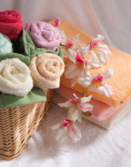 Set of multicolored towels