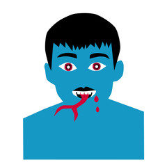 illustration of devil  man