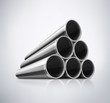 Stack of Metal Pipes - 71470969
