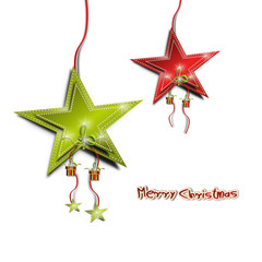 merry christmas stern anhänger