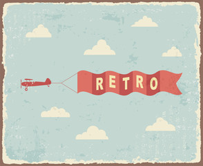 Vintage typography Background. Vector illustration
