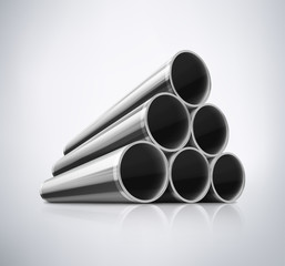 Stack of Metal Pipes