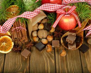 Various Christmas ingredients