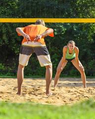 Gegener beim Beachvolleyball