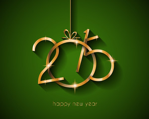 2015 flat style  new year modern background