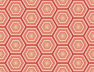 A seamless repeating hexagonal pattern