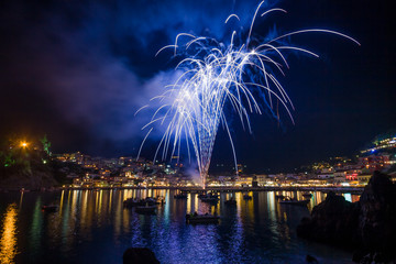 Firework on August the 15th in Parga Greece