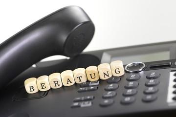 Beratung mit Telefon