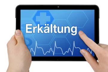 Tablet mit Interface und Erkältung